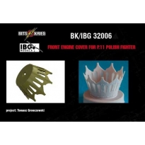 Front engine cover for PZL P.11C Polish Fighter (fit IBG 32001) (1:32)