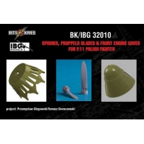 Spinner, Propeller blades & cover for PZL P.11C Polish Fighter (fits IBG 32001) (1:32)