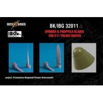 Spinner & Propeller blades for PZL P.11C Polish Fighter (fits IBG 32001) (1:32)