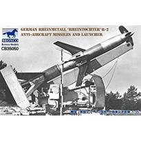 German Rheinmetall 'Rheintochter' R-2 anti-aircraft missiles and launcher (1:35)