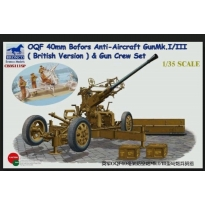 OQF Bofors 40mm Anti-Aircraft Gun Mk. I/III British Army Gun Crew Set (1:35)