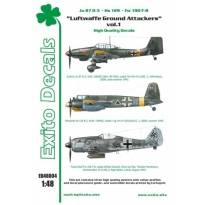 Luftwaffe Ground Attackers vol.1 - Ju 87 D-3, Hs 129, Fw 190F-8 (1:48)