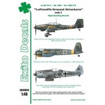 Luftwaffe Ground Attackers vol.1 - Ju 87 D-3, Hs 129, Fw 190F-8 (1:48)