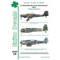 Exito ED72004 Luftwaffe Ground Attackers vol.1 - Ju 87 D-3, Hs 129, Fw 190F-8 (1:72)