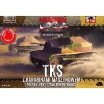 First to Fight TKS z kar.masz.Polski lekki czołg roz. (1:72)