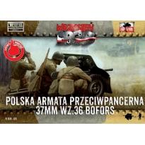 First to Fight Polska armata przeciwpancerna 37mm wz.36 Bofors (1:72)