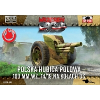 First to Fight Polska haubica polowa 100 mm wz.14/19 na kołach DS (1:72)