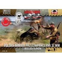 First to Fight Polska armata przeciwpancerna 37mm Bofors z obsługą ułanów (1:72)