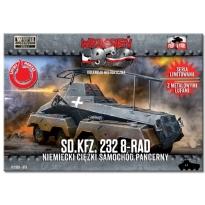 First to Fight Sd.kfz.232 8-Rad Niemiecki ciężki samochód pancerny (seria limitowana z metalowymi lufami) (1:72)