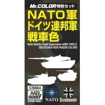 MR Color Tank Colors for NATO - Zestaw 3 farb o poj.10 ml