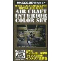 MR Color Interior Colors for Aircraft (WW2) - Zestaw 3 farb o poj.10 ml