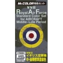 MR Color RAF Colors 2 for Aircraft (WW2) - Zestaw 3 farb o poj.10 ml