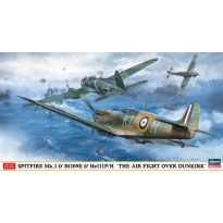 "SPITFIRE Mk.I & Bf109E & He111P/H ""THE AIR FIGHT OVER DUNKIRK (Three kits in the box) (1:72)"