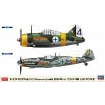 """B-239 Buffalo & Messerschmitt Bf109G-6 """"Finnish Air Force"""" (1:72)"""