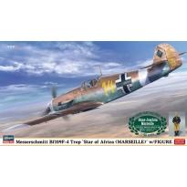 """Messerschmitt Bf109F-4 Trop """"Stern von Afrika Hans-Joachim Marseille """"w/Figure - Limited Edition (1:48)"""