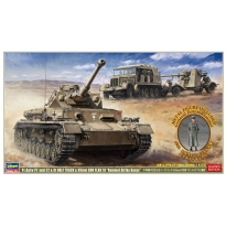 "Pz.Kpfw IV ausf.F2 & 8t Half Track & 88mm Gun FLAK 18 ""Rommel Afrika Korps"" with 1/32 General Erwin Rommel Metal Figure - Limited Edition  (1:72)"