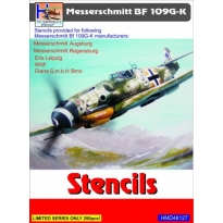 Messerschmitt Bf-109G/K Stencils (sets for 5 different a/c manufacturers) (1:48)