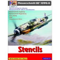 Messerschmitt Bf-109G/K Stencils (sets for 5 different a/c manufacturers) (1:48)