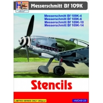 Messerschmitt Bf-109K-4/Bf-109K-6/Bf-109K-10/Bf-109K-14 Stencils (1:48)