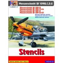 Messerschmitt Bf-109B/Bf-109C/Bf-109D/Bf-109E Stencils (incl. Yugoslav+Swiss variant) (1:48)