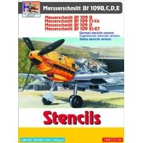 Messerschmitt Bf-109B/Bf-109C/Bf-109D/Bf-109E Stencils (incl. Yugoslav+Swiss variant) (1:72)