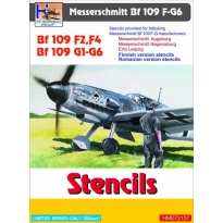 Messerschmitt Bf-109F-2/Bf-109F-4/Bf-109G-1--Bf-109G-6 Stencils (sets for 3 different a/c manufacturers+Finnish+Romanian) (1:72)