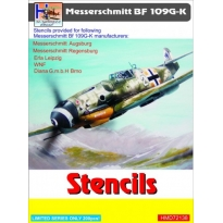 Messerschmitt Bf-109G/K Stencils (sets for 5 different a/c manufacturers) (1:72)