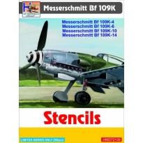 Messerschmitt Bf-109K-4/Bf-109K-6/Bf-109K-10/Bf-109K-14 Stencils (1:72)