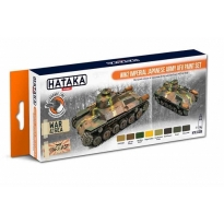 ORANGE LINE – WW2 Imperial Japanese Army AFV paint set (8 x 17 ml.)