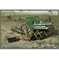 Skoda 100mm vz 14/19 Howitzer (optional metal barrel included) (1:35)