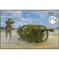 IBG 35059 75mm Field Gun wz. 1897 with Polish Artillerymen figures (1:35)