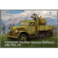 V3000 SM Maultier German Halftrack with Flak 38 (1:72)