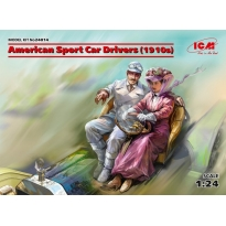 American Sport Car Drivers (1910s) (1 male, 1 female figures) (1:24)