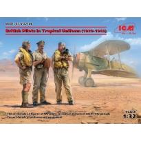 British Pilots in Tropical Uniform (1939-1943) (3 figures) (1:32)