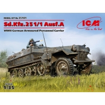 Sd.Kfz.251/1 Ausf.A, WWII German Armoured Personnel Carrier (1:35)