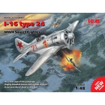 I-16 type 24, WWII Soviet Fighter (1:48)