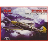 Bf 109E-7/B WWII German Fighter-Bomber (1:72)