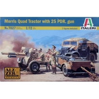 Morris Quad Tractor with 25 PDR. gun (1:72)