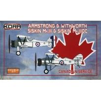Armstrong & Withworth Siskin Mk.III & Siskin III.DC Canadian Srtvice Double kit (1:72)