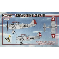 Dewoitine D.27 part III.Swiss AF, Silver wings I (1:72)