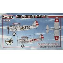 Dewoitine D.27 III. Swiss AF, Silver wings II (1:72)