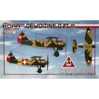 Dewoitine D.27.III Swiss AF, WWII camouflage (1:72)