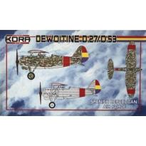 Dewoitine D.27/D.53 Spanish Republican Air service (1:72)