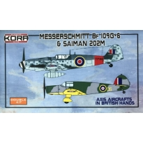 Messerschmitt Bf-109G-6 & Saiman 202M in British hands (1:72)