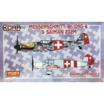 Messerschmitt Bf-109G-6 & Saiman 202M Swiss AF (1:72)