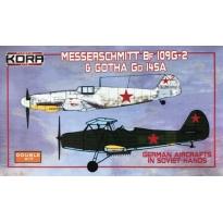 Messerschmitt Bf-109G-6 & Gotha Go 145A in Soviet hands (1:72)