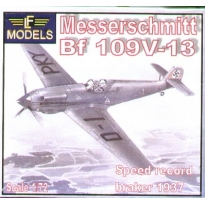 Messerschmitt Bf 109V-13 1937 speed record breaker (1:72)