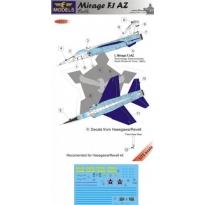 Mirage F.1AZ S. Africa part II: kalkomania + konwersja (1:72)