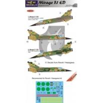 Mirage F.1ED Libyan AF: kalkomania + konwersja (1:72)