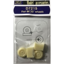 Fiat BR.20 weighted wheels (1:72)